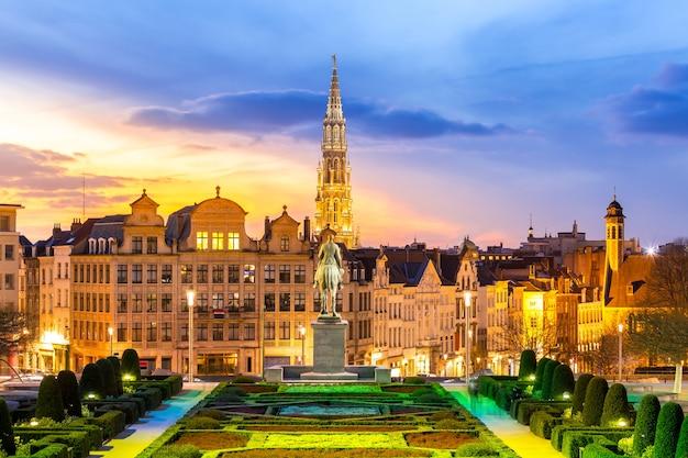 Paysage urbain de bruxelles en belgique
