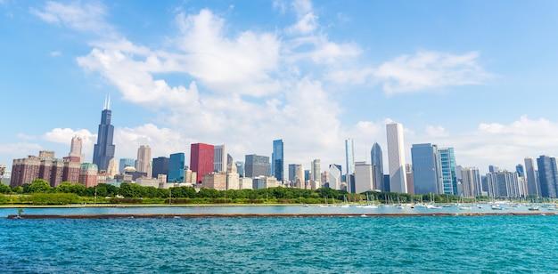 Paysage urbain de chicago en une journée d'été