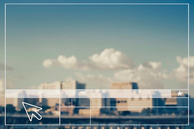 Paysage urbain créer une bannière vierge de mise en page de site web