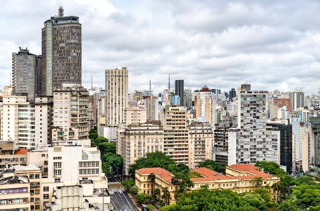 Paysage urbain du centre-ville de san paolo au brésil