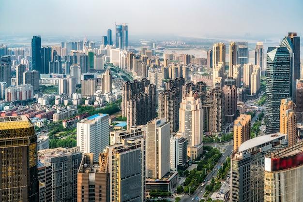 Paysage urbain du nouveau district de nanchang, jiangxi, chine