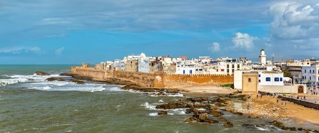 Paysage urbain d'essaouira, un site du patrimoine mondial au maroc. afrique du nord