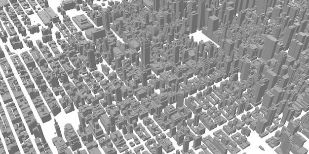 Paysage urbain grands immeubles architecture panoramique