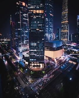 Paysage urbain de guangzhou la nuit