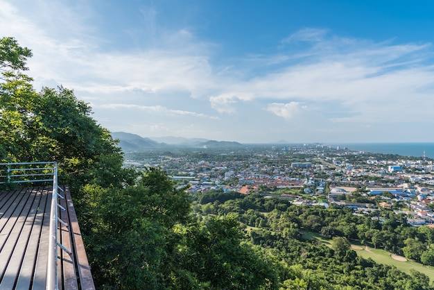Paysage urbain de hua hin prachuap khiri khan, thaïlande