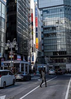 Paysage urbain japon personnes