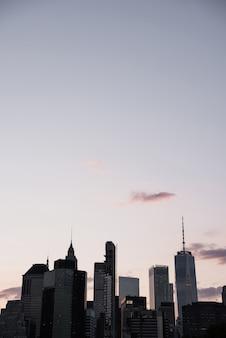 Paysage urbain de new york avec espace de copie
