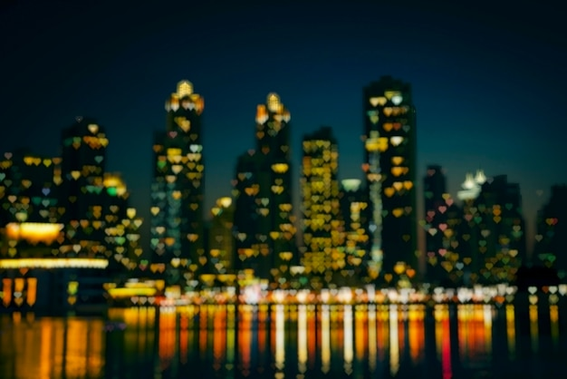 Paysage urbain de nuit de dubaï