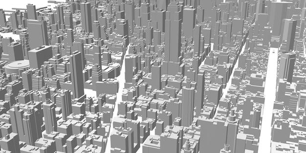 Paysage urbain panorama haut bâtiment bâtiment architecture chemin de coupe de la vie de la ville