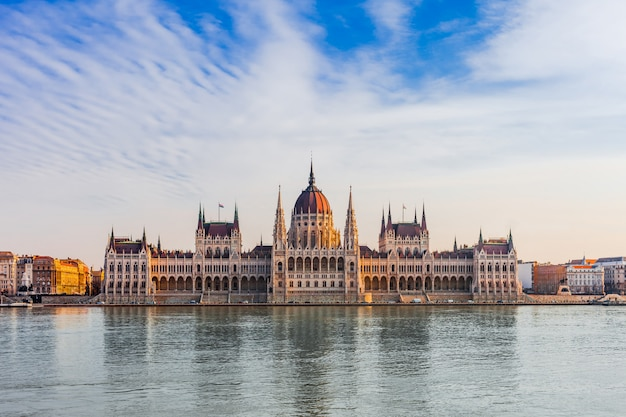 Paysage urbain panoramique de budapest en hongrie, europe.