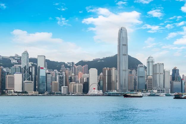 Paysage urbain et paysage architectural de hong kong