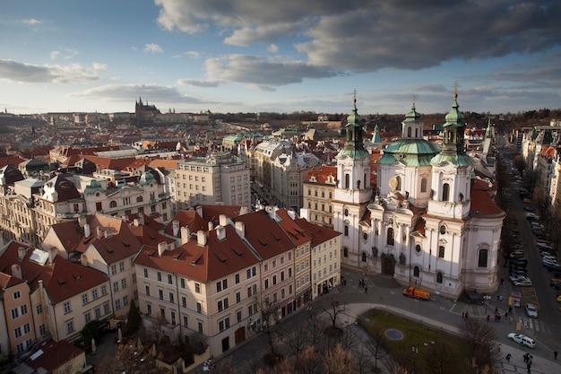 Paysage urbain de prague en république tchèque