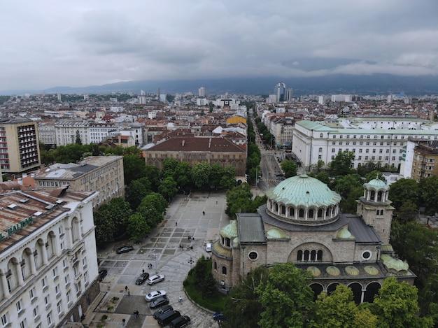 Paysage urbain de sofia, la capitale de la bulgarie