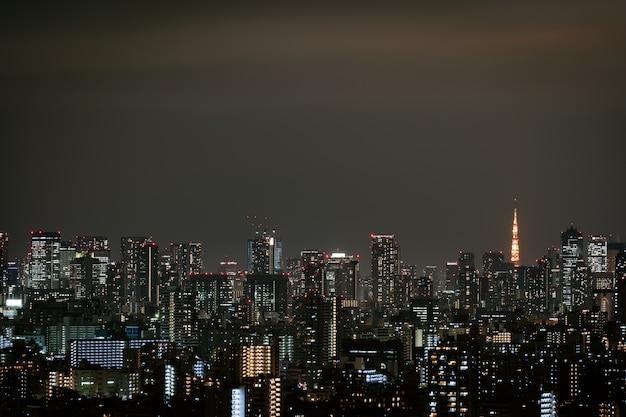 Paysage urbain de tokyo, japon