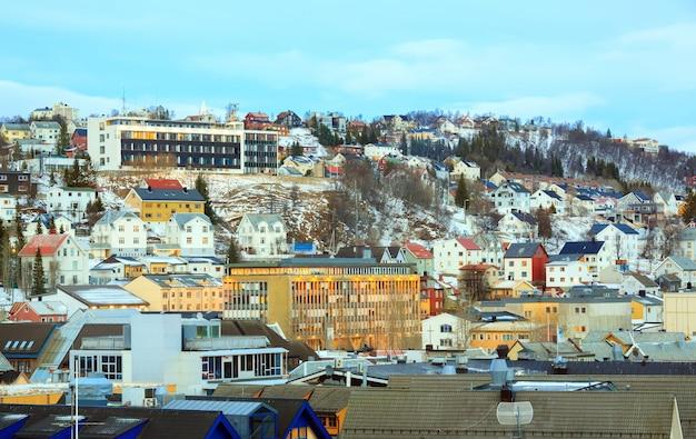Paysage urbain de tromso en norvège