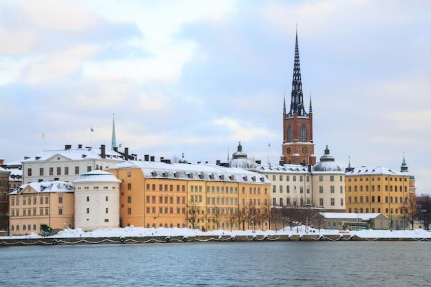 Paysage urbain de la vieille ville de stockholm