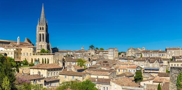 Paysage urbain de la ville de saint-emilion, un site du patrimoine mondial en france