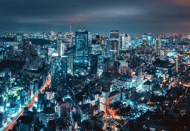 Paysage urbain de la ville de tokyo