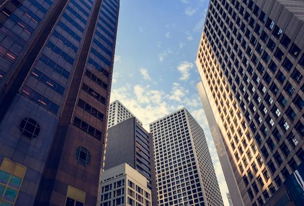 Paysage urbain vue paysage centre-ville