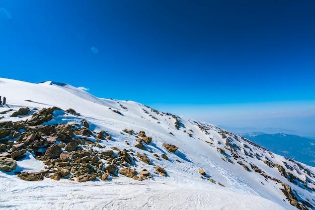Paysage vacances chutes de neige forêt gelée