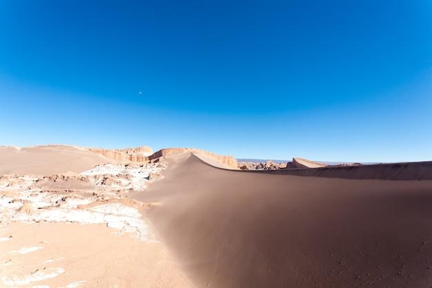 Paysage de la vallée de la lune, chili. panorama chilien. vallée de la luna