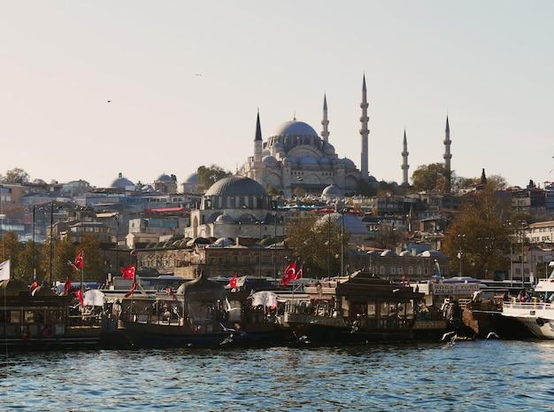 Paysage de la vieille ville d'istanbul turquie