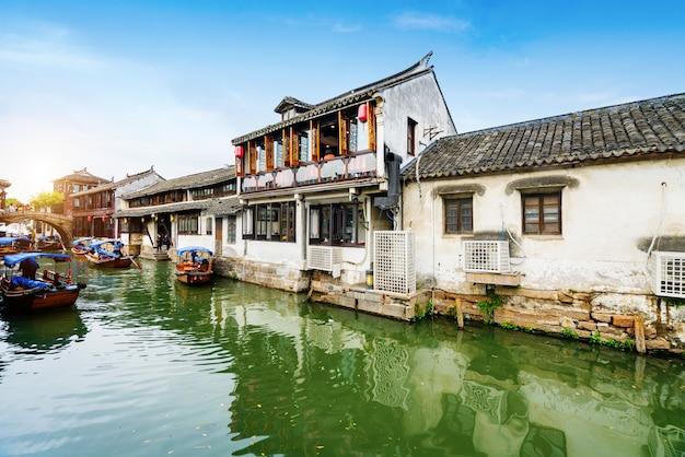 Paysage de la vieille ville de zhouzhuang, suzhou, chine