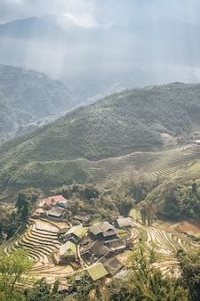 Paysage vietnamien à sa pa