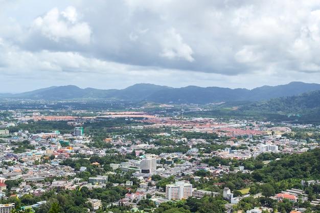Paysage de la ville de phuket