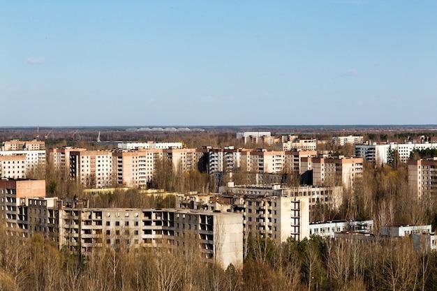 Paysage de la ville de pripyat
