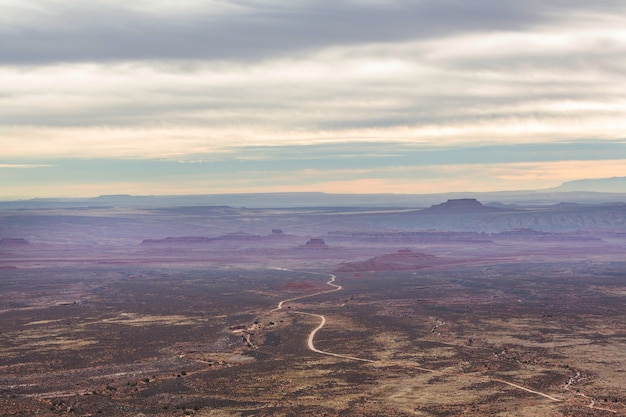 Paysages américains- prairie en saison d'automne, utah, usa.