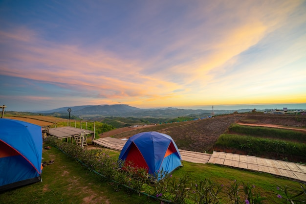 Paysages de camping paysages.