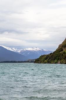 Paysages de l'île du sud du lac wanaka nouvelle-zélande