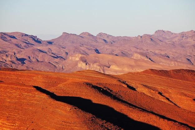 Paysages de montagnes de l'atlas au maroc