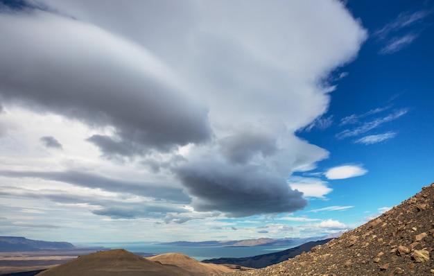 Paysages de patagonie dans le sud de l'argentine. beaux paysages naturels.