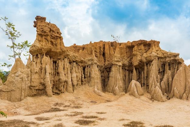 Paysages de sol paysage piliers de grès érodés