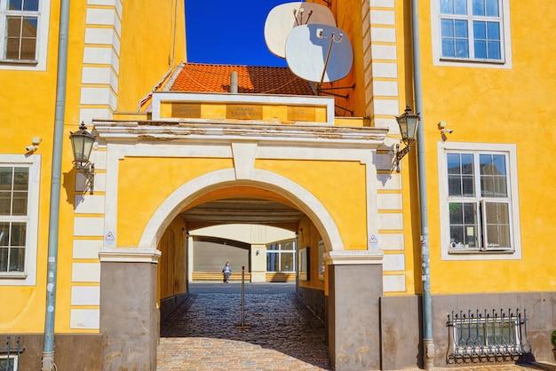Les paysages de la vieille ville de riga sont une partie centrale et historique de riga
