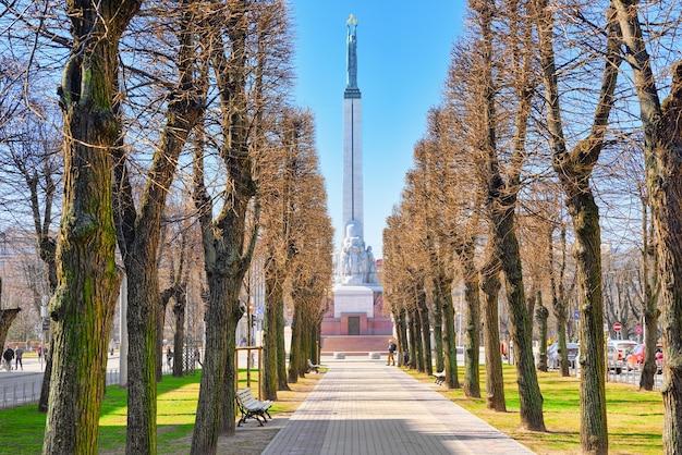 Paysages de la ville riga est la capitale de l'état balte lettonie