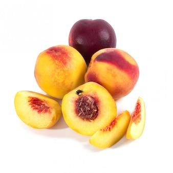 Peach sur la table
