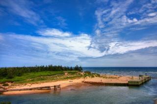 Pei plage paysage hdr herbe