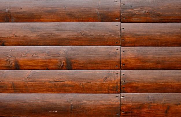 Peint en arrière-plan de bardage en bois brun