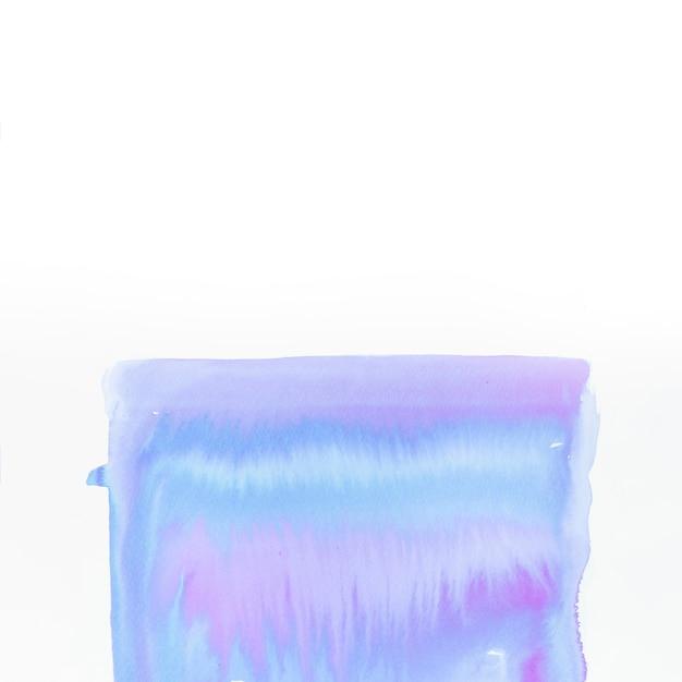 Peint à la main forme acrylique isolé sur fond blanc