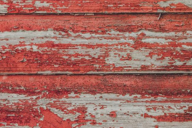 Peint le vieux fond de mur rouge en bois.