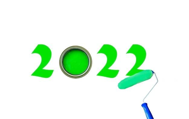 Peinture 2022 avec de la peinture verte