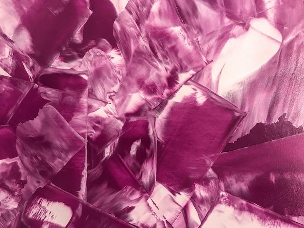 Peinture abstraite art fond couleurs violettes et blanches.