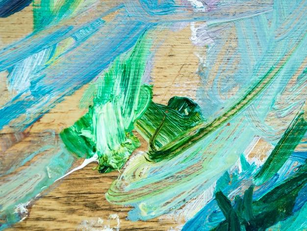 Peinture abstraite aux couleurs acryliques