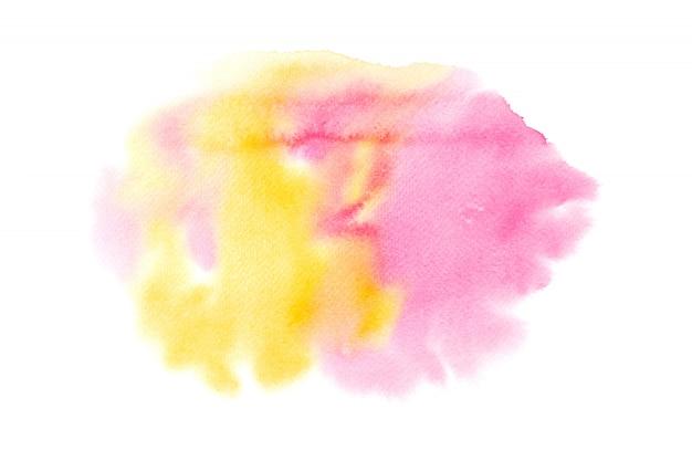 Peinture abstraite de l'eau colorée