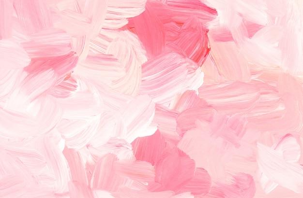 Peinture abstraite de fond rose et blanc pastel