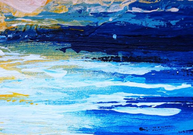 Peinture abstraite de la peinture bleue
