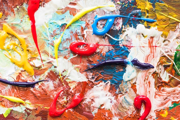 Peinture abstraite vue de dessus